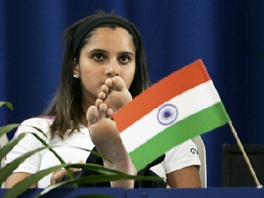 Sania Mirza & the Indian Tri-color